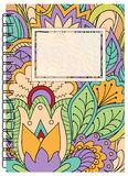 Colorful cover zen floral design of the notebook Royalty Free Stock Images