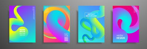 Colorful covers design set. Modern covers template design. Applicable for design covers, pentation, magazines, flyers. Annual reports, posters and business Royalty Free Stock Photography