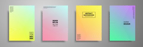 Colorful covers design set. Modern covers template design. Applicable for design covers, pentation, magazines, flyers. Annual reports, posters and business Royalty Free Stock Images