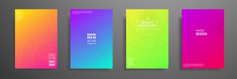Colorful covers design set. Modern covers template design. Applicable for design covers, pentation, magazines, flyers. Annual reports, posters and business Royalty Free Stock Image