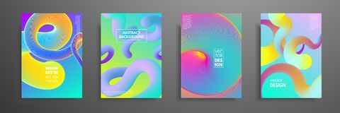 Colorful covers design set. Modern covers template design. Applicable for design covers, pentation, magazines, flyers royalty free illustration