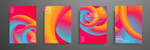 Colorful covers design set. Modern covers template design. Applicable for design covers, pentation, magazines, flyers. Annual reports, posters and business Royalty Free Stock Photo