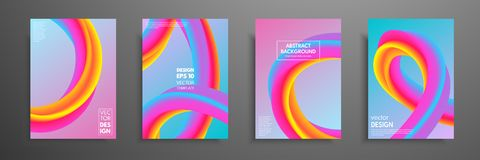 Colorful covers design set. Modern covers template design. Applicable for design covers, pentation, magazines, flyers. Annual reports, posters and business Stock Photos