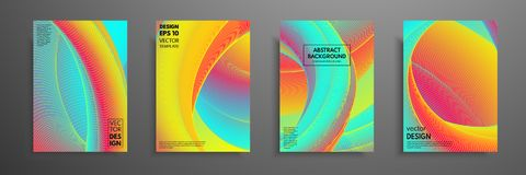 Colorful covers design set. Modern covers template design. Applicable for design covers, pentation, magazines, flyers. Annual reports, posters and business Stock Photo