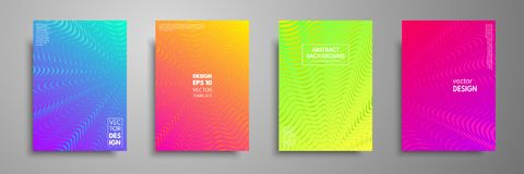 Colorful covers design set. Modern covers template design. Applicable for design covers, pentation, magazines, flyers. Annual reports, posters and business Stock Image