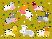 Colorful cows Royalty Free Stock Photos