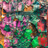 Colorful of cracked on the old car royalty free stock photography