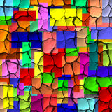 Colorful Cracks. Abstract colorful cracked squares background Stock Photos