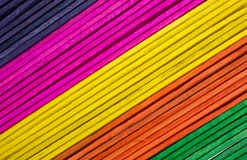 Colorful craft sticks at an angle royalty free stock photos