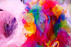 Colorful crafted headpieces Stock Photo