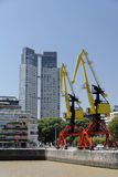 Colorful Cranes Puerto Madero Buenos Aires Stock Image