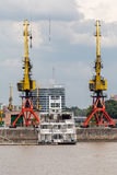 Colorful Cranes Puerto Madero Buenos Aires royalty free stock photography