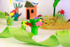 Colorful crape paper decoration Stock Images