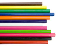 Colorful crayon. On white background Royalty Free Stock Image