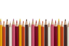 Colorful crayon as white background Stock Images