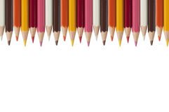 Colorful crayon as white background Royalty Free Stock Photography
