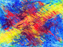 Colorful crayon background Stock Images