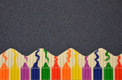 Colorful crayon border Royalty Free Stock Photography