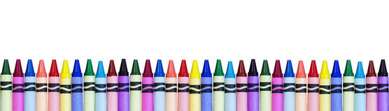 Colorful Crayon Border Royalty Free Stock Photos