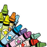 Colorful Crayon Corner Tab Royalty Free Stock Image