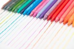 Colorful of crayon Stock Photos