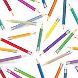 Colorful crayon pattern. Seamless background multicolored pencils Royalty Free Stock Image