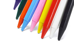 Colorful crayon pencils Royalty Free Stock Images