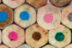 Colorful crayon pencils Stock Photo