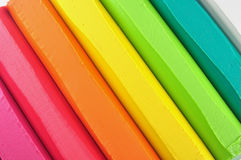 Colorful crayon stick Stock Images