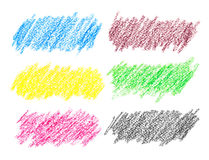 Colorful crayon strokes Stock Photography