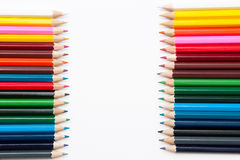 Colorful crayons Stock Images