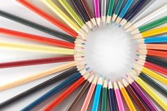 Colorful crayons Stock Photos