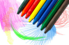 Free Colorful Crayons Royalty Free Stock Photos - 17032918