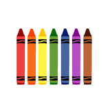 Colorful Crayons. A set of colorful rainbow crayons to color with stock illustration