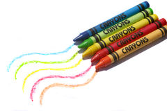 Colorful crayons Stock Image