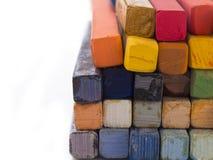 Colorful crayons Stock Photos