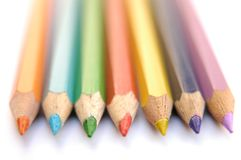 Colorful crayons III Royalty Free Stock Photos