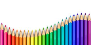 Free Colorful Crayons In Wave Shape Stock Image - 167481691