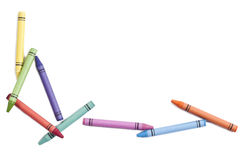 Colorful crayons isolated Stock Photos