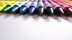 Colorful Crayons. Lined up Stock Image