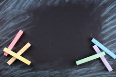 Colorful crayons are painted Stock Photos