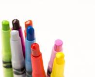 Colorful crayons pencils Stock Photos