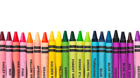 Colorful Crayons in a Row Stock Photography