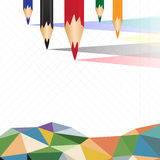 Colorful crayons sort background. Illustration Stock Photos