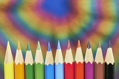 Colorful crayons Royalty Free Stock Images