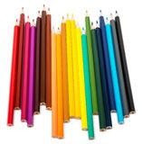 Colorful crayons on white Royalty Free Stock Image