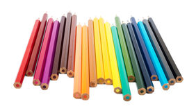 Colorful crayons on white Royalty Free Stock Photo