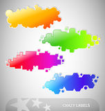 Colorful Crazy Labels Stock Photo