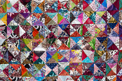 Colorful crazy quilt for sale, Bali, Indonesia Royalty Free Stock Photos