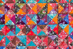 Colorful crazy quilt for sale Stock Images